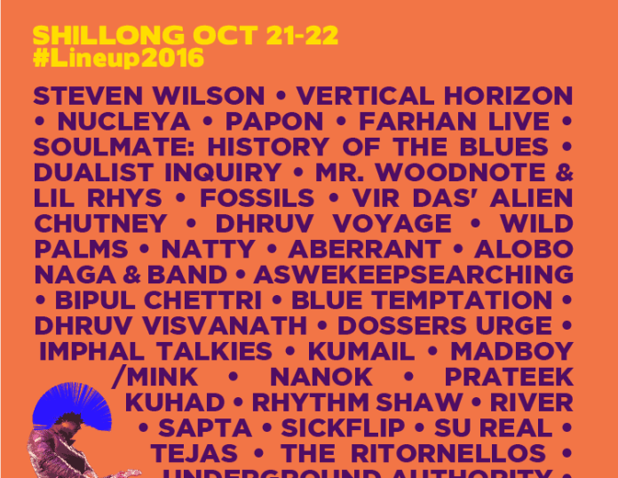 Bacardi NH7 Weekender line up for Shillong