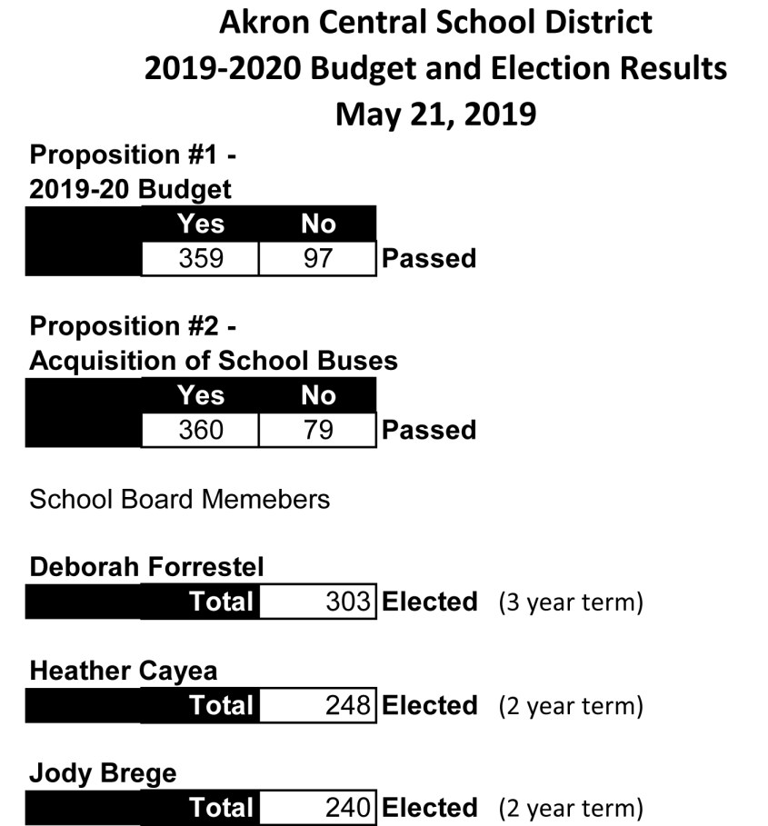 Budget Vote & Election Results 2019-2020 (2)