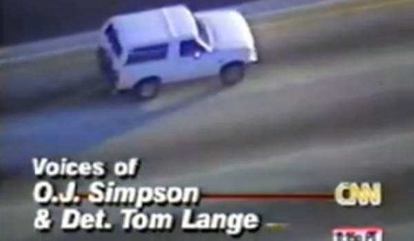 20 Years Ago OJ And A White Ford Bronco The News Wheel