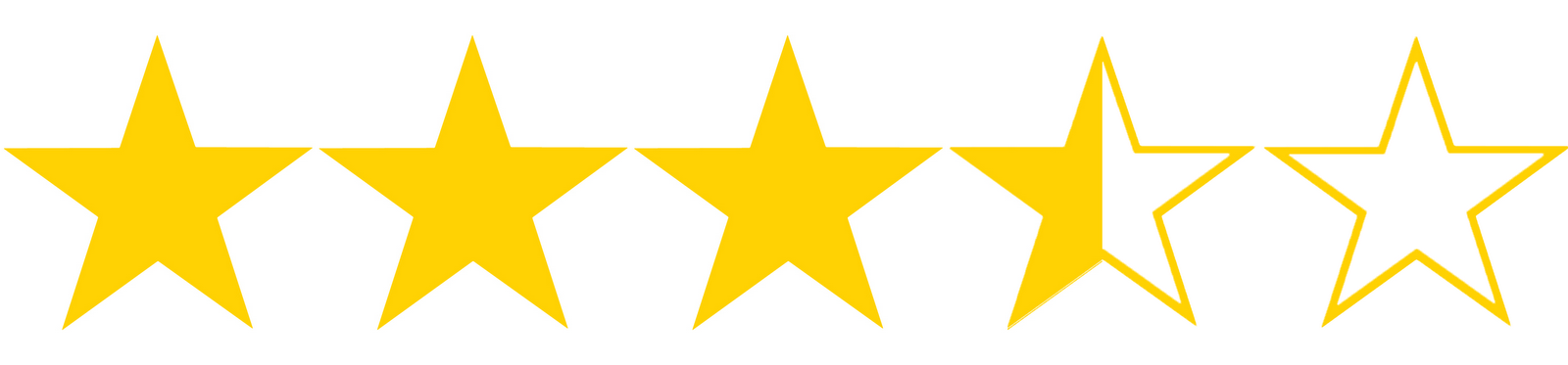 Image result for 3.5 out of 5 stars