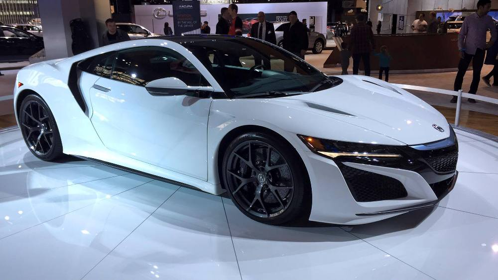 Photos Acura Brings White Nsx To Cold Chicago For The