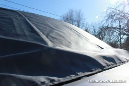 Gethercovered windshield cover fabric