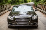 2017 Genesis G90 model overview black exterior front end