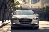 2017 Genesis G90 model overview white car grille