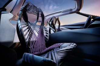 Lexus UX crossover concept 2016 Paris Auto Show front seats