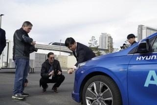 Hyundai autonomous self-driving IONIQ electric car concept