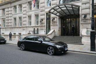 BMW 7 Series in Red Sparrow movie Jennifer Lawrence spy film black car (7)