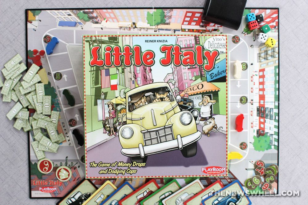 Little Italy review Reiner Knizia Playroom 2007 Italian mobster racing board game funny family buy purchase