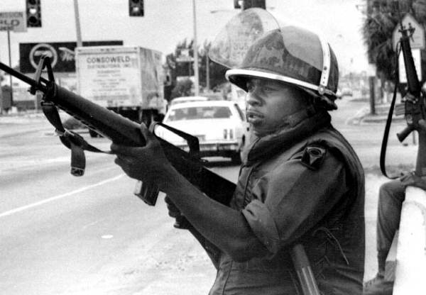 The National Guard was sent out during the McDuffie riots in May 1980. (Credit: State Archives of Florida)