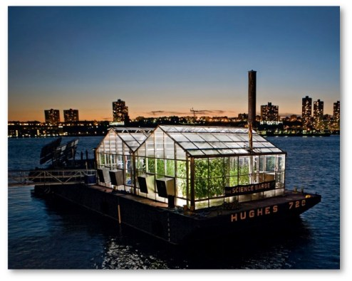 Urban agriculture is a theme on the New York Science Barge. (Courtesy of CappSci)