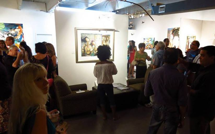 ArtWalk takes place the third Saturday of the month. (Photo Courtesy MANO Fine Art Project Space