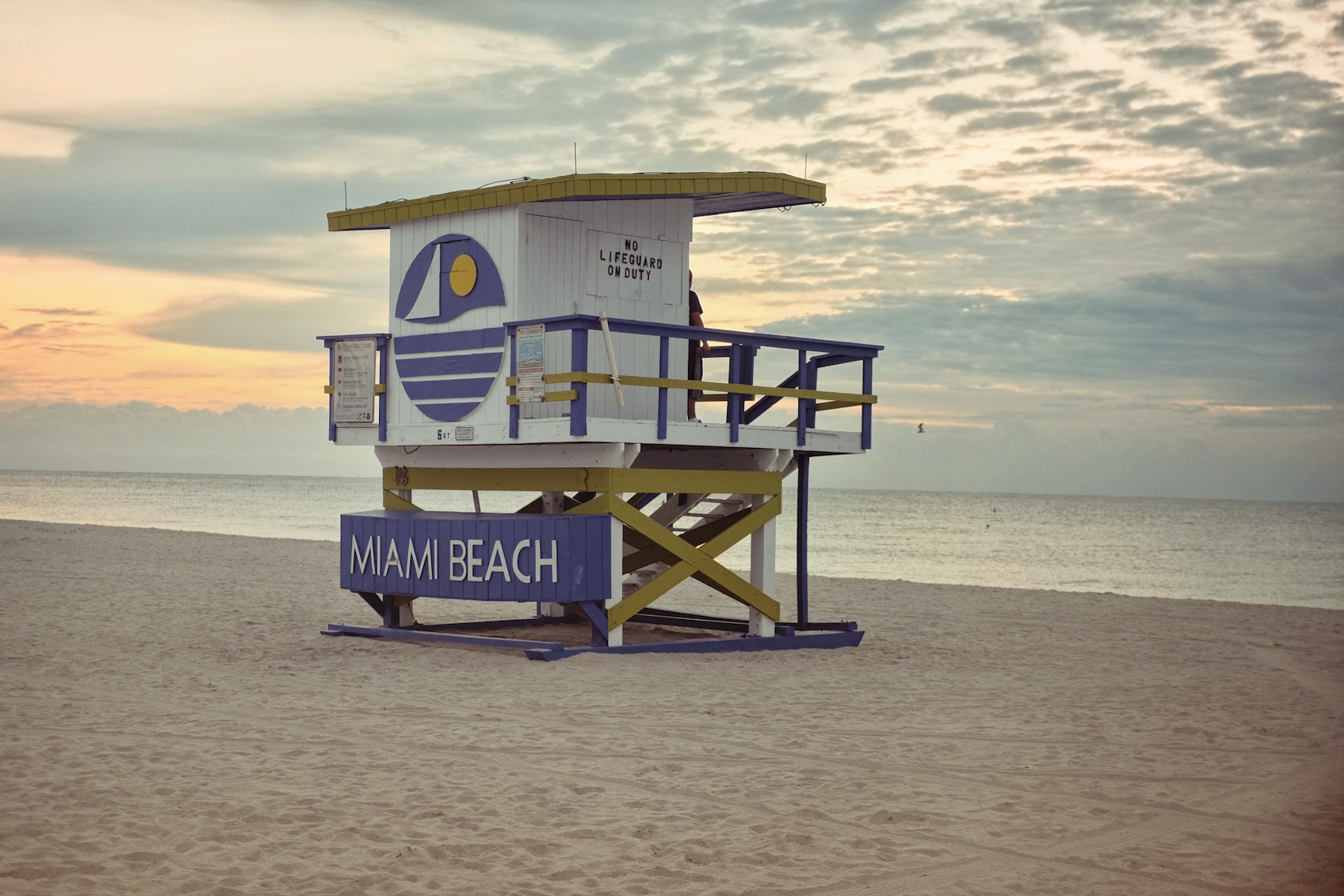 """5th Street: """"I feel like this is such an iconic one with the logo. It's the only one that says Miami Beach. It reminds me of the Welcome to Miami Beach sign when you come over on the MacArthur. It's probably the city's best ad on the beach."""" (Sean R. Sullivan, seanwashere.com)"""