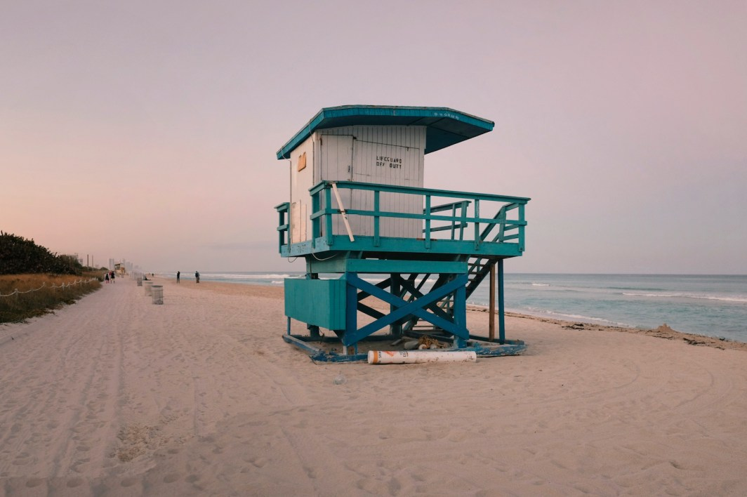 """72nd Street: """"This one looks kind of lonely, like it's had better days. This was another shot before it was repainted. I just wanted to show how long the beach stretches here and these stands are markers of that distance."""" (Sean R. Sullivan, seanwashere.com)"""