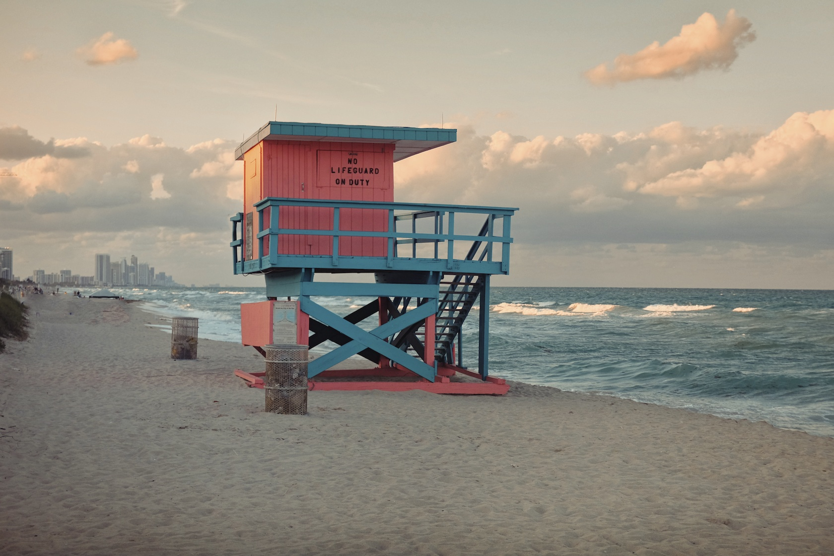 """85th Street: """"They painted this one different colors than the original, but I like how the railing matches the ocean and you have that Miami, flamingo pink."""" (Sean R. Sullivan, seanwashere.com)"""