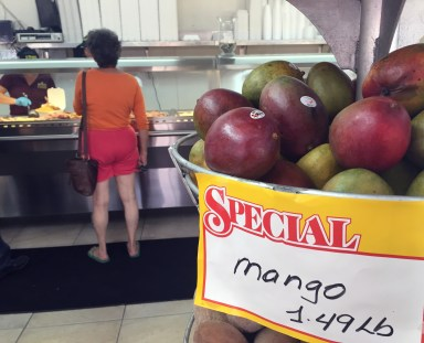 Palacio de los Jugos offers fresh-squeezed juice and food by the pound. (Ashley Martinez photo)
