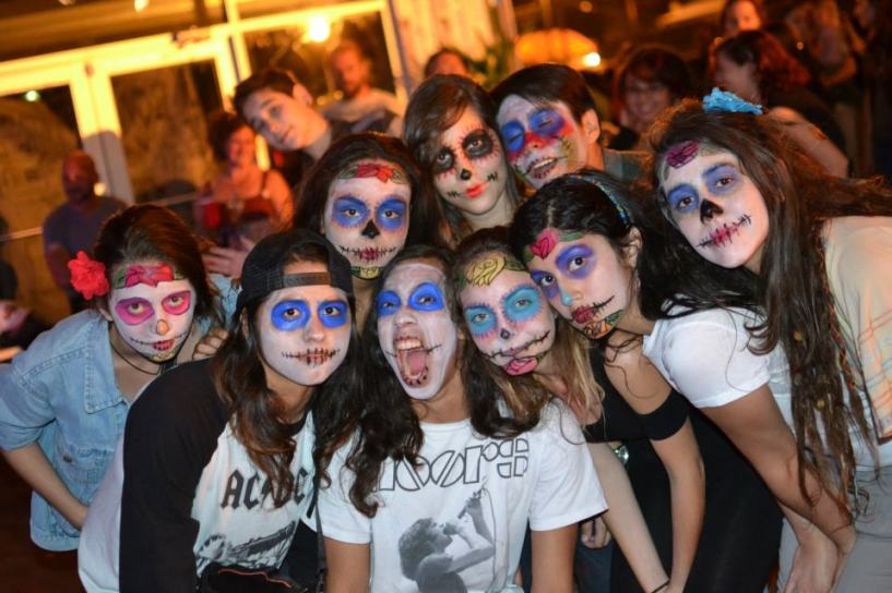 A group of girls dressed up for the parade. (Courtesy of South Florida Day of the Dead Celebration)