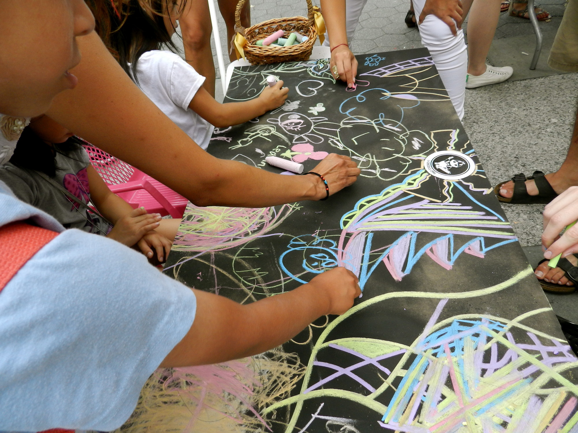 A pop-up public art event called Doodleville. (Courtesy of The Awesome Foundation)