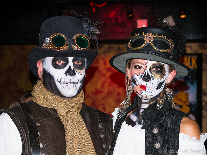 A couple dressed up for the annual Day of the Dead parade. (Courtesy of South Florida Day of the Dead Celebration)