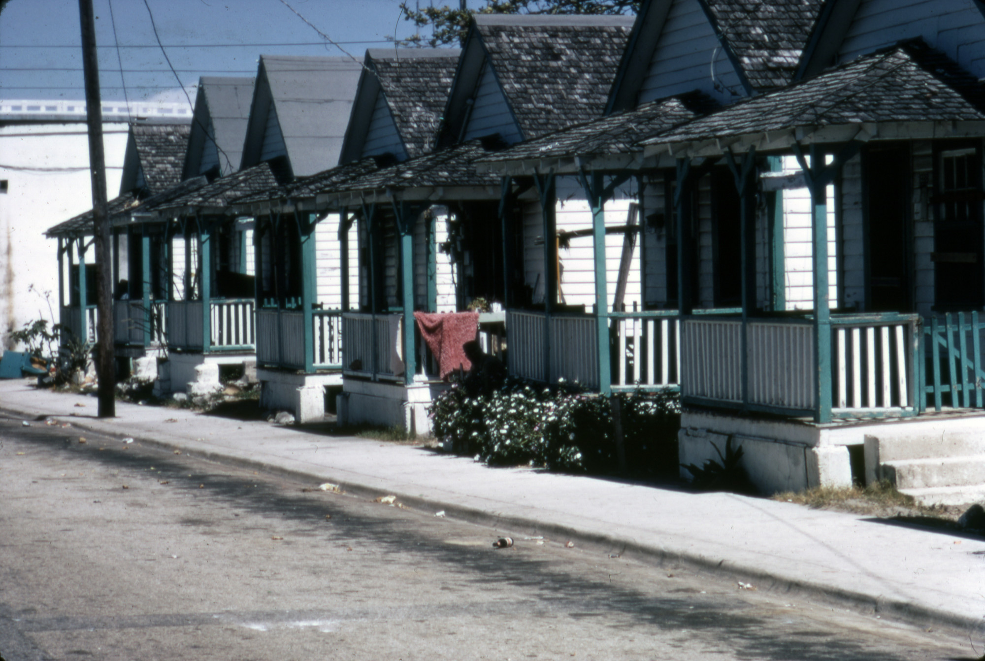 Shotgun houses in Overtown in 1995. (Courtesy of HistoryMiami Museum)