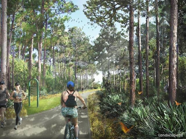 A rendering of the future of the Ludlam Trail. (Courtesy of Douglas Thompson of LandscapeDE)