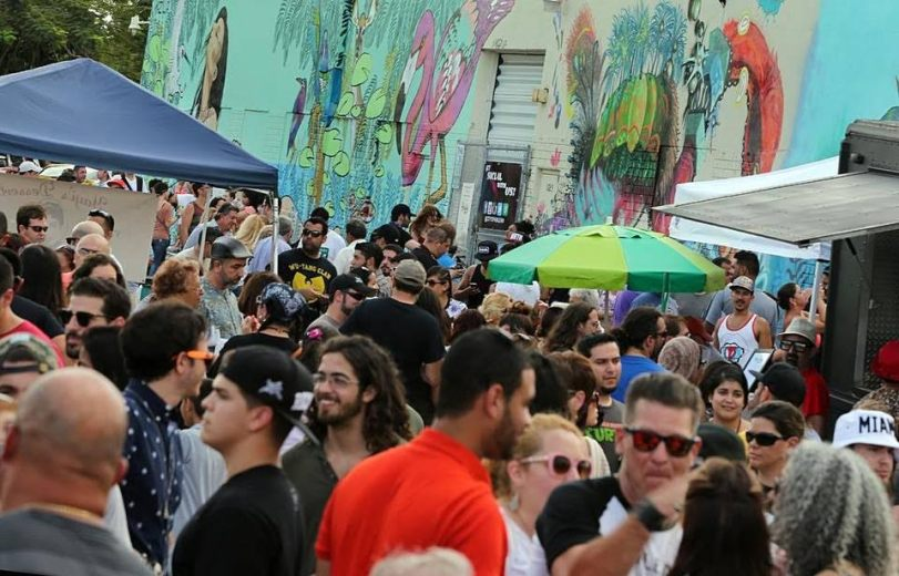 The crowd at the Leah Arts District street fair. (Courtesy of JLPR)