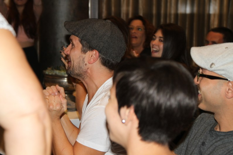 Chef Andy Bates' reaction just as The Avenue is announced the winner.