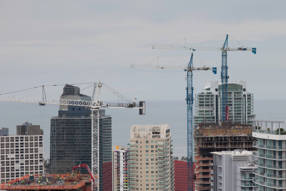Construction in Brickell's city center. (Courtesy of Jimmy Baikovicius/Flickr Creative Commons)