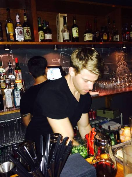 Leo working at the original Cocktail Collection. (Courtesy of Leo Holtzman)