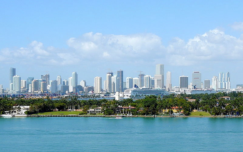 Miami's modern skyline. (Courtesy of Wikimedia Commons)