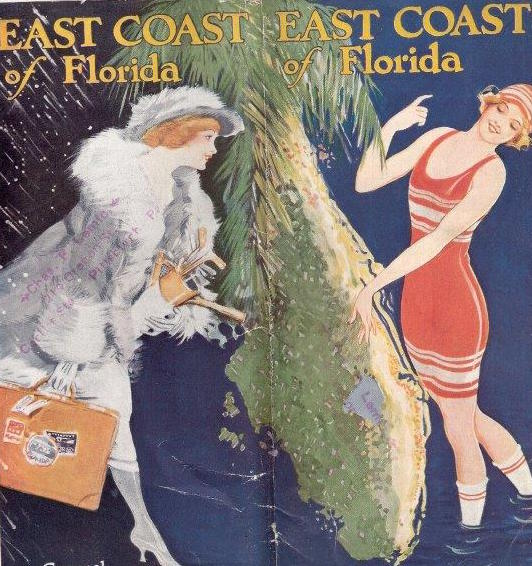 The cover of a 1921 booklet published by the Florida East Coast Railway.