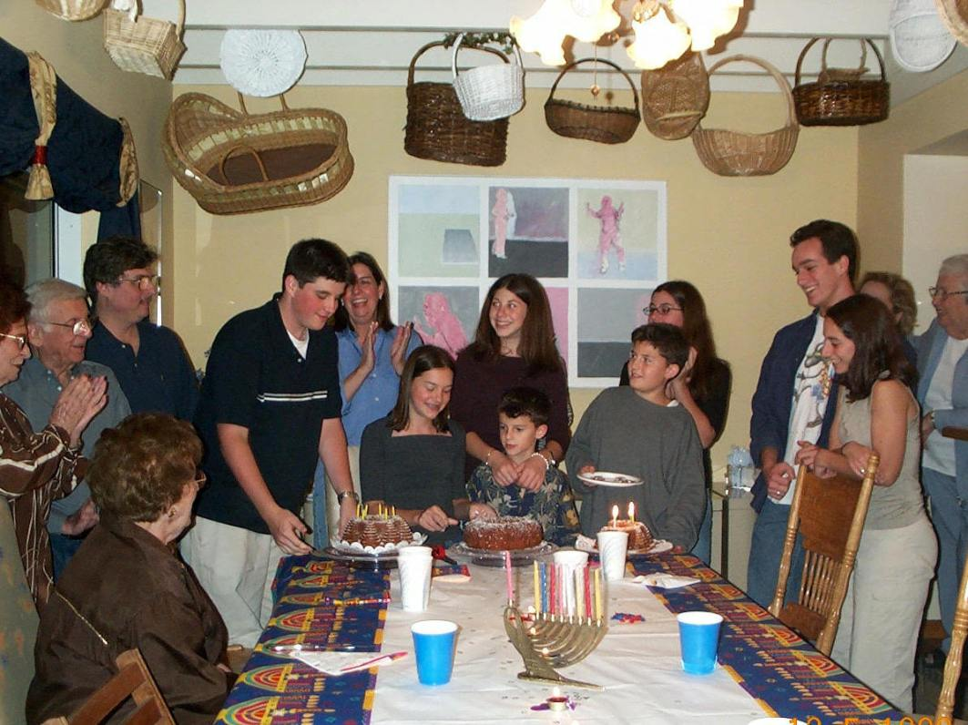 Family gathering during Hanukkah. (Courtesy of Lillian Rosenberg)
