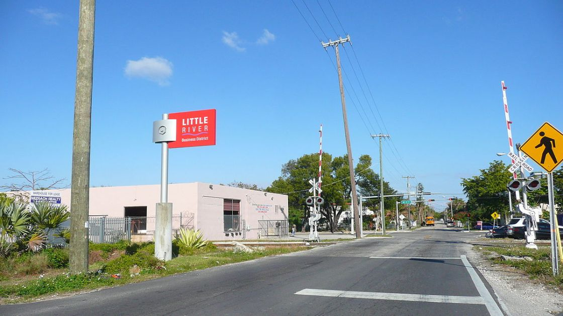 The entrance to Little River Business District. (Courtesy of Marc Averette/Wikimedia Commons)