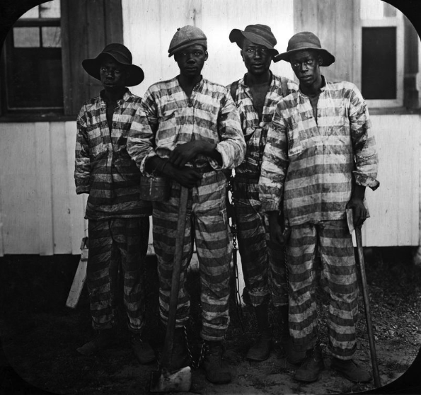 Convicts leased to harvest timber in the early 1900s. (Courtesy of State Archives of Florida, Florida Memory.)
