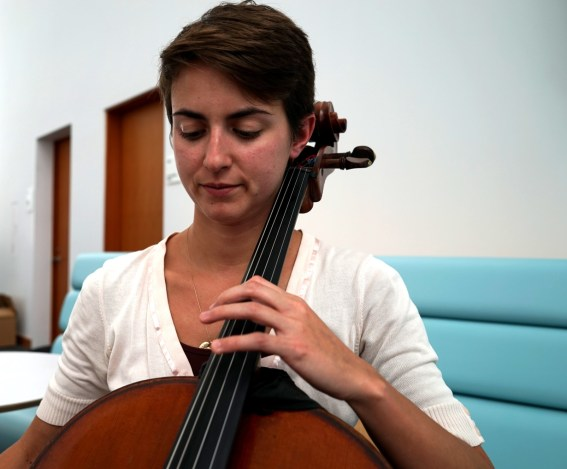 I'm a cello fellow. I know — that sounds a little funny.