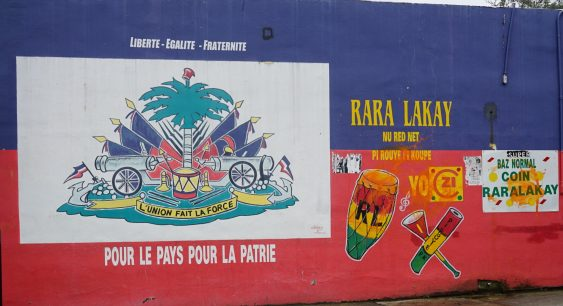 Mural on a corner store in downtown Little Haiti.