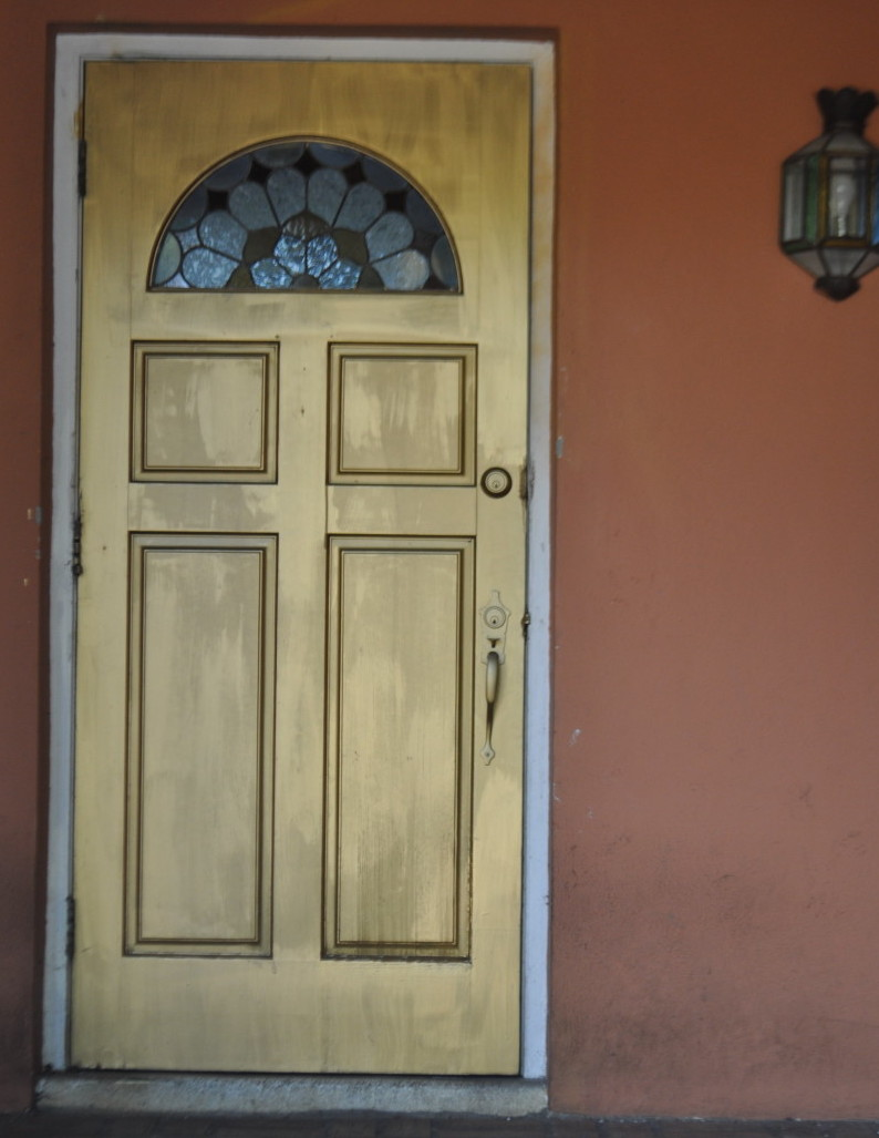Solid gold front door.