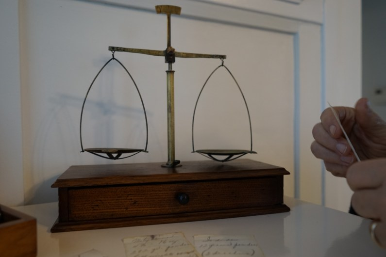 Scale used to measure out prescriptions.