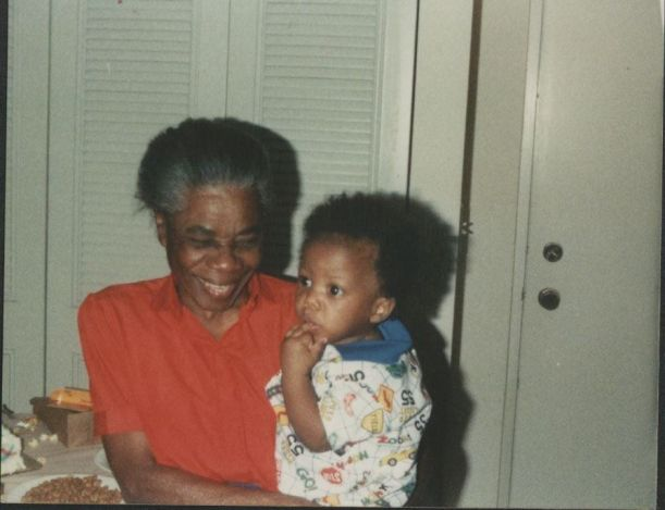 Me and my grandmother in 1991.