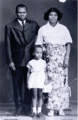 Edwidge Danticat with her mother and father. (Courtesy of the Danticat family)