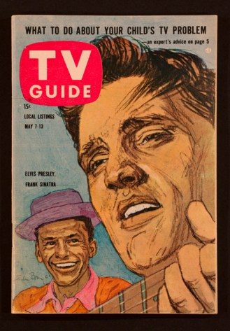 Sinatra and Elvis on a TV Guide cover (Courtesy of HistoryMiami)