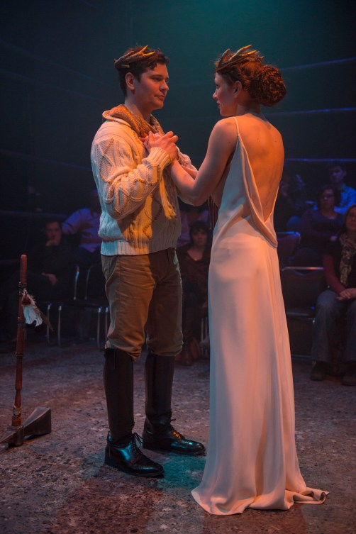 King Casper Kent and his new Queen, Rienne Boileau Kevin Stangler as Casper and Kara Davidson as Rienne. (Photo Courtesy of Justin Namon, ra-haus)