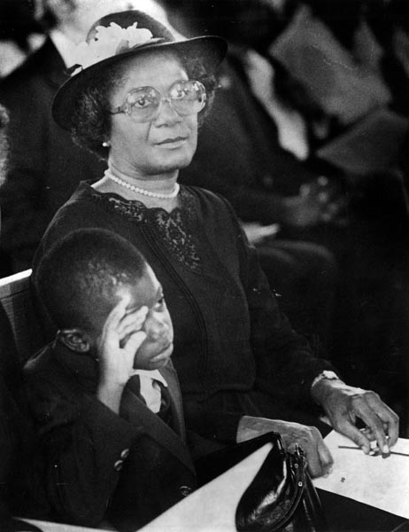 Thelma Gibson and her grandson. (Courtesy of History Miami)