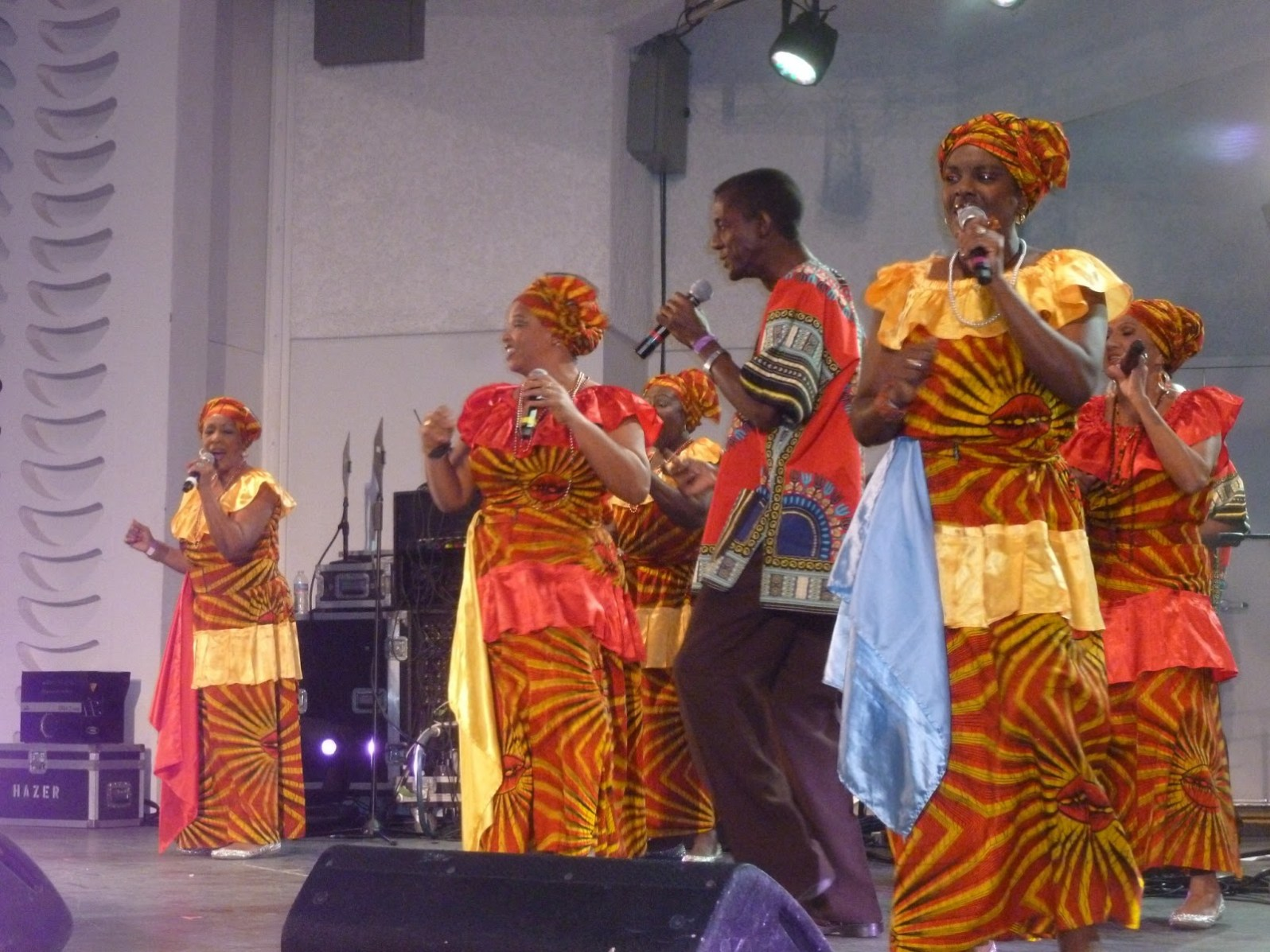 Grupo Vocal Desandann, a Haitian-Cuban group were the Light Project's first Cuban musical guests. (Courtesy of Miami Light Project)