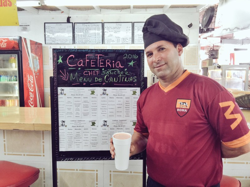 Chef Sanchez trained in Cuba, but has been in the US for 6 years. He mans the concession stand at the store. (Courtesy of Maria de los Angeles)