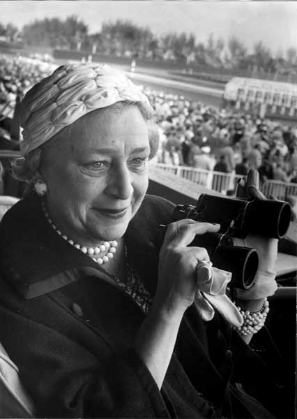 Mrs. Fabel Dodge Sloane at Hialeah Park in 1959 (Courtesy of HistoryMiami)