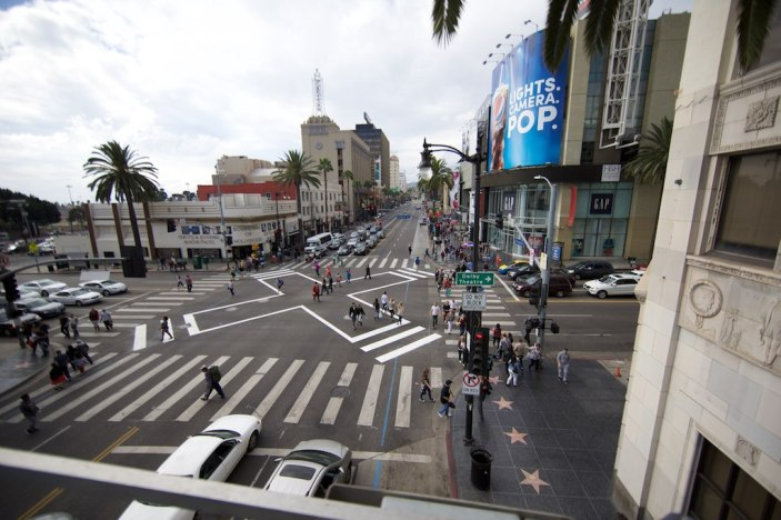 Hollywood and Highland after the scramble crosswalk. (Courtesy of LADOT Official)