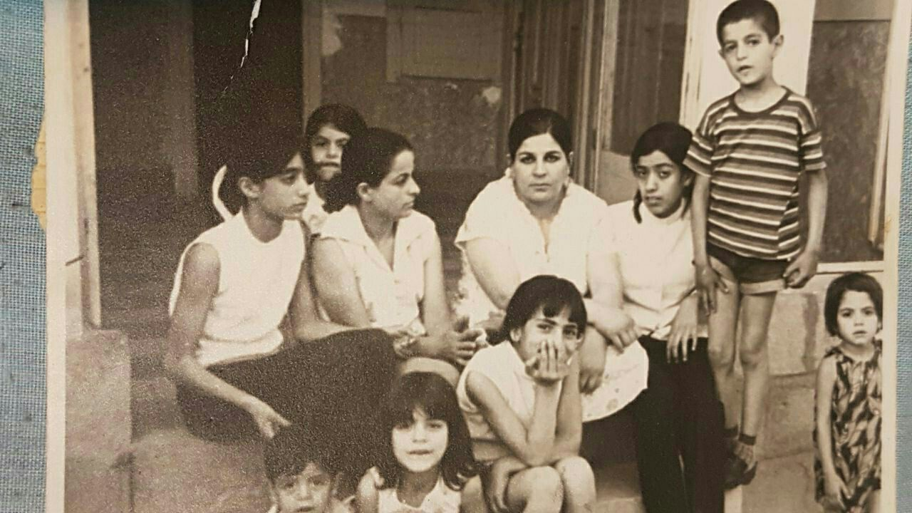 Shireen's grandmother, mother, and the rest of the family in Shiraz, Iran. (Courtesy of Shiraz)