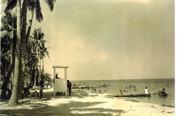 A lifeguard stand. (Courtesy of the Historic Virginia Key Beach Trust)