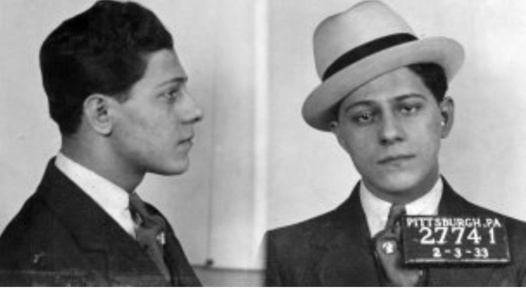 1933 mugshot as a young hoodlum