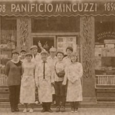The Mincuzzi Family Bakery Company. All the family proudly poses for a photo